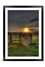 Gateway to the Sunset, Framed Mounted Print