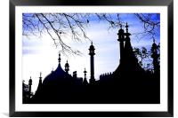 Royal Pavilions Silhouette, Framed Mounted Print