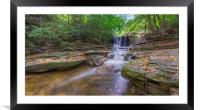 Autunm Falls , Framed Mounted Print