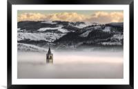 Montorsello fog, Framed Mounted Print