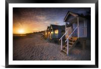 Wells-next-the-Sea Beach Huts , Framed Mounted Print