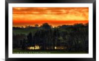 POOL OF GOLD, Framed Mounted Print