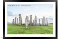 Callanish Stones on the Isle of Lewis, Framed Mounted Print