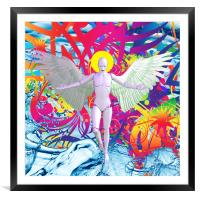 Angelic Robot, Framed Mounted Print