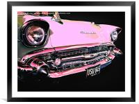 Candy Pink Chevrolet, Framed Mounted Print