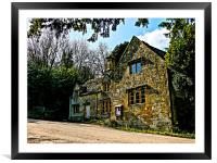 Old Cotswold House., Framed Mounted Print