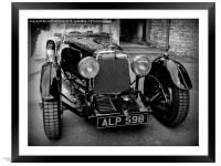 ASTON MARTIN 1933, Framed Mounted Print