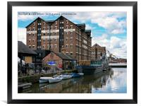 Gloucester Dock Reflections , Framed Mounted Print