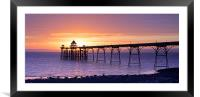 Clevedon Pier Sunset, Framed Mounted Print