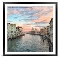 Sunset in Venice, Framed Mounted Print