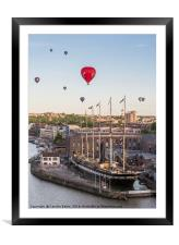Balloons over the SS Great Britain, Framed Mounted Print
