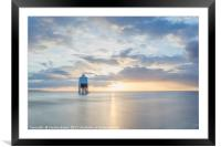 The Lower Lighthouse at Burnham on Sea, Framed Mounted Print