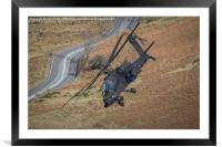 Apache Helicopter, Framed Mounted Print