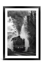 Letting off steam, Framed Mounted Print