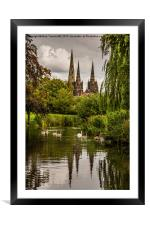 Lichfield Cathedral, Framed Mounted Print