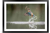 A great catch for us both !!!, Framed Mounted Print