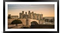 Conwy Castle Sunset Panorama, Framed Mounted Print