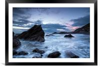 Cornwall Coast at Whitsand Bay, Framed Mounted Print