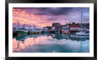 Sunrise at Padstow, Framed Mounted Print