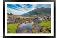 Loch Duich in Scotland, Framed Mounted Print