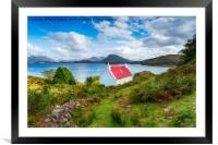 A picturesque cottage on the shores of Loch Shield, Framed Mounted Print