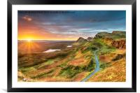Beautiful Autumn sunrise over the Quiraing, Framed Mounted Print