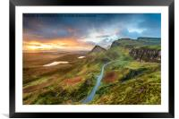 Stunning sunrise over the Quiraing, Framed Mounted Print