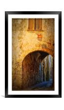 Chania alley, Framed Mounted Print