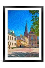 Malmo Stortorget Painting, Framed Mounted Print
