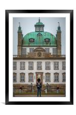 Fredensborg Palace with Armed Guard, Framed Mounted Print