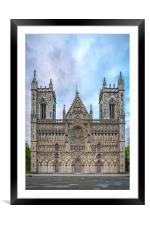 Trondheim Nidaros Cathedral, Framed Mounted Print
