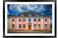 Karlskrona County Governors Building Facade, Framed Mounted Print