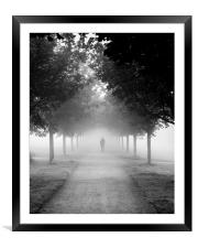 Foggy Autumn Morning, Framed Mounted Print