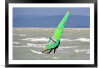 Windsurfing Lake Balaton, Framed Mounted Print