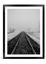 Journey into Winter, Framed Mounted Print