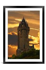 The Wallace Monument, Framed Mounted Print