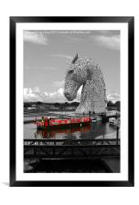 Overlooked by a Kelpie, Framed Mounted Print