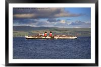 PS Waverley on the Clyde, Framed Mounted Print