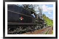 Driving the Train, Framed Mounted Print
