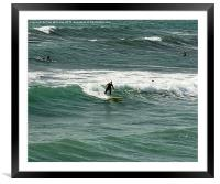 Surfers, Framed Mounted Print