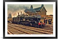 GWR 5029 at Highley, Framed Mounted Print