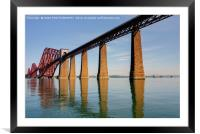 The Forth Bridge, South Queensferry, Scotland, Framed Mounted Print
