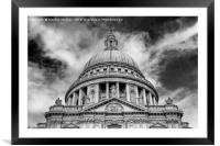 Rise - St. Paul's Dome #2, Framed Mounted Print