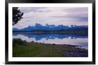 A Mystic Summer Night on Tysfjorden, Framed Mounted Print