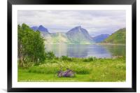 Violet Accents - On the Island of Senja , Framed Mounted Print