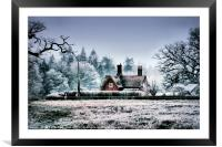 Lonely Cottage, Framed Mounted Print