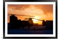 Ch47 Chinook Helicopter Aircraft, Framed Mounted Print