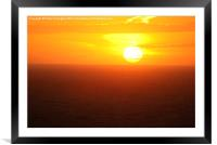 Sunset Over The Sea, Framed Mounted Print