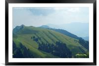 Over The Hills And Far Away !, Framed Mounted Print
