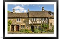 The Old Court House, Castle Combe village, England, Framed Mounted Print